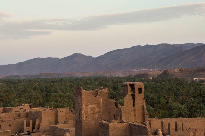 veduta dal villaggio fortificato nell'itinerario marocco insolito