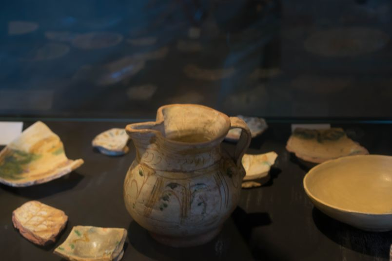 contenitore nel museo dell'isola del lazzaretto nuovo