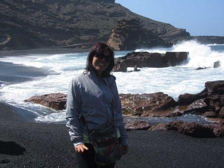 foto di me a Lanzarote in spiaggia