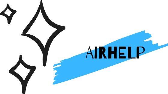 disegno di stelline e la scritta airhelp