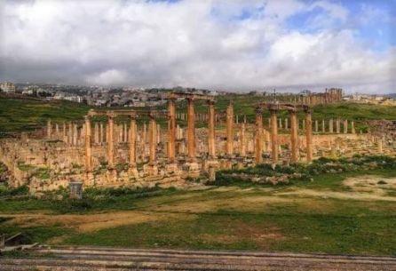 jerash e le sue colonne romane