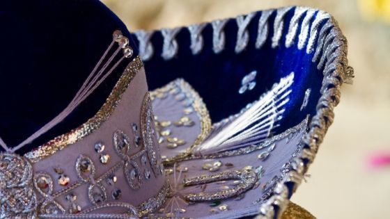 sombrero blu, copricapo messicano