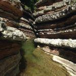 canyon naturale nell'escursione brent de l'art a belluno