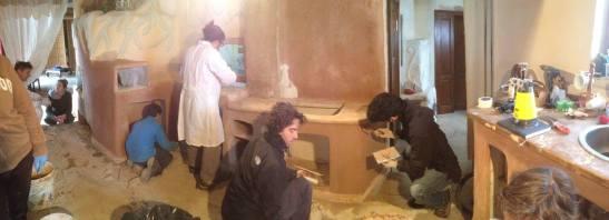 costruzione cucina in terra cruda