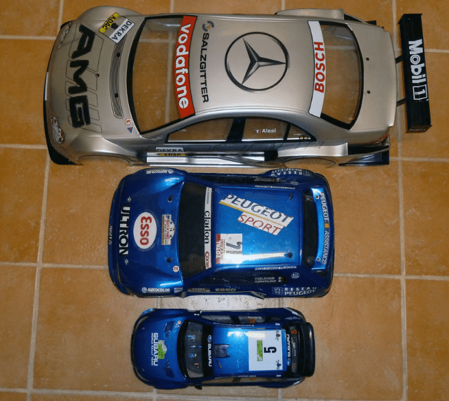 escalas radio control coches rc