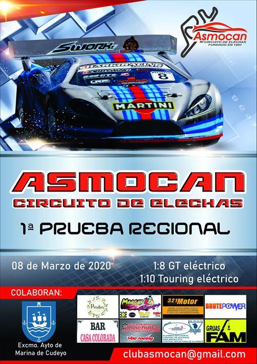 Regional 1/8 GT y 1/10 Touring eléctricos en Asmocan Elechas Cantabria
