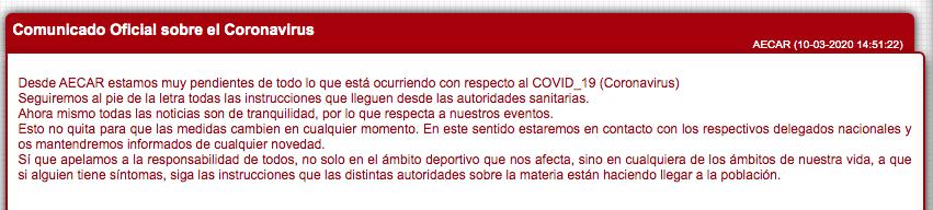 AECAR CORONAVIRUS COVID-9