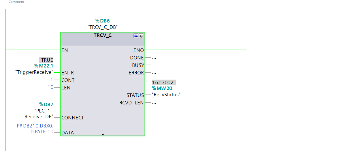 Program the TSEND_C and TRCV_C instructions for open user