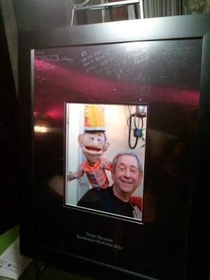Owen and puppet, Little O