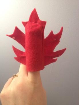 Maple Leaf Puppet Back