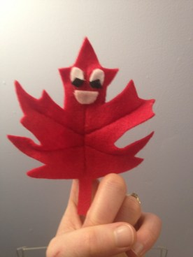 Maple Leaf Puppet Front
