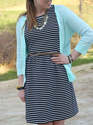 striped-dress-mint-cardi-leopard-belt