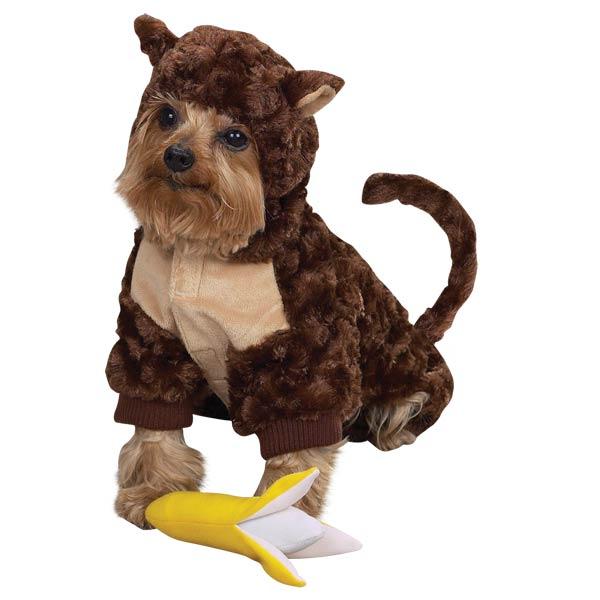 monkey dog halloween costume with banana