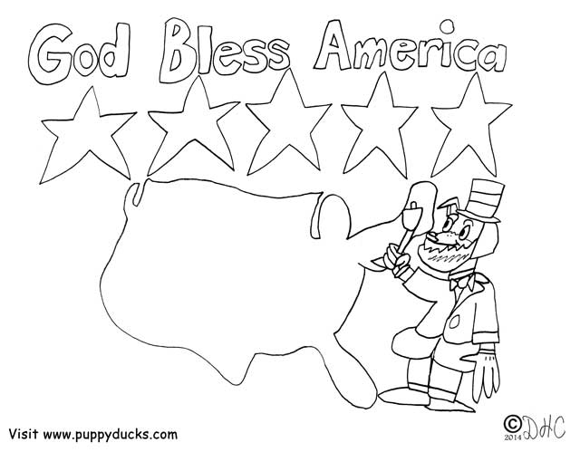 God Bless America Pages Coloring Pages