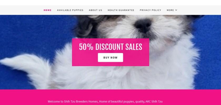 Shihtzubreedershomes.com - Shihtzu Puppy Scam Review