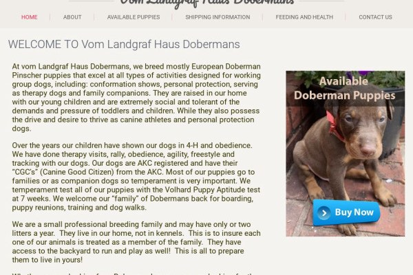 Vomlandgrafhaus.com - Doberman Pinscher Puppy Scam Review