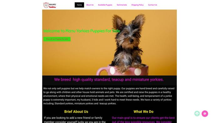 Manuyorkies.goldenchampion.net - Yorkshire Terrier Puppy Scam Review