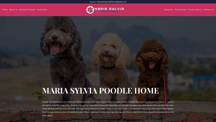 Mariasylviapoodlehome.com - Poodle Puppy Scam Review