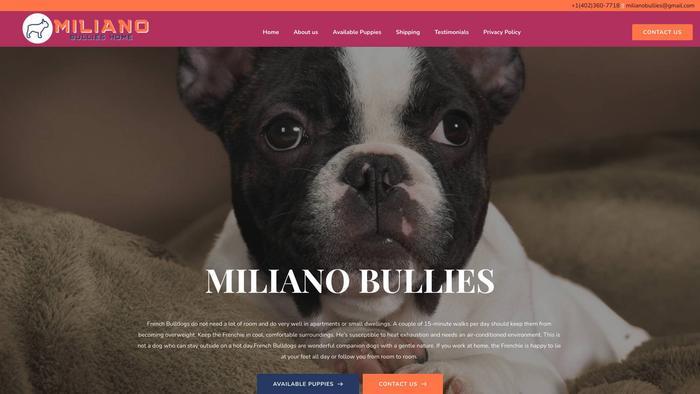 Milianobullies.com - French Bulldog Puppy Scam Review