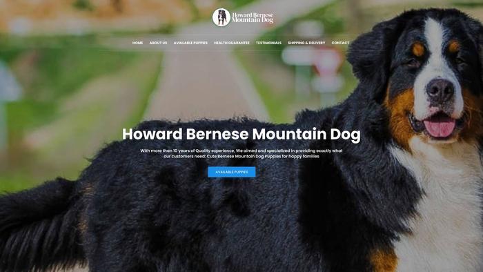 Howardbernesemountaindog.com - Bernese Mountain Dog Puppy Scam Review