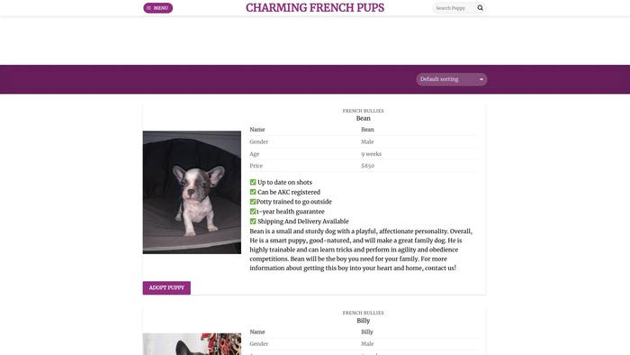 Charmingfrenchpups.com - French Bulldog Puppy Scam Review