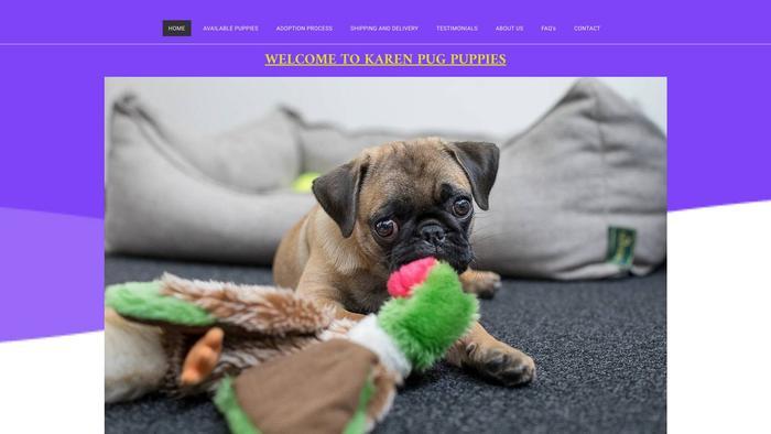 Karenpugpuppies.com - Pug Puppy Scam Review