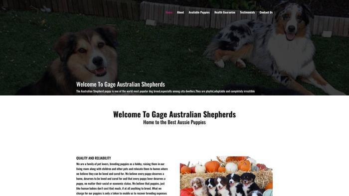 Gageaussies.com - Australian Shepherd Puppy Scam Review