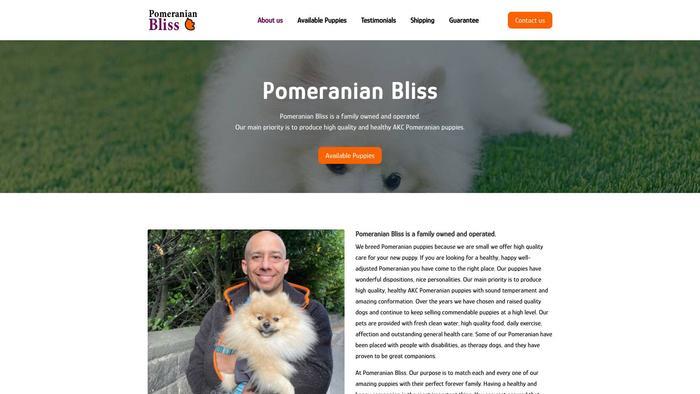 Pomeranianbliss.com - Pomeranian Puppy Scam Review