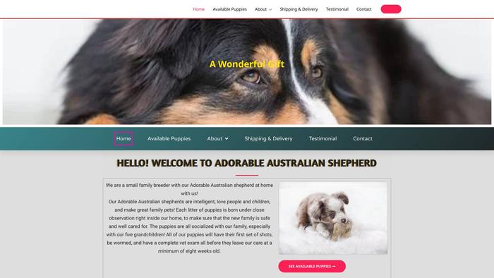 Adorableaustralianshepherd.com - Germanshepherd Puppy Scam Review