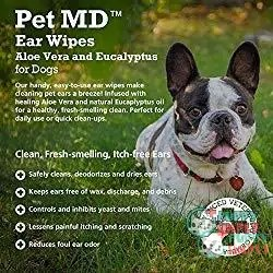 PET MD Dog Ear Cleaner Wipes 1