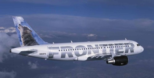 frontier plane with wolf on tail