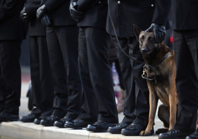 The Funeral Of Murdered Police Officer Nicola Hughes At Manchester Cathedral