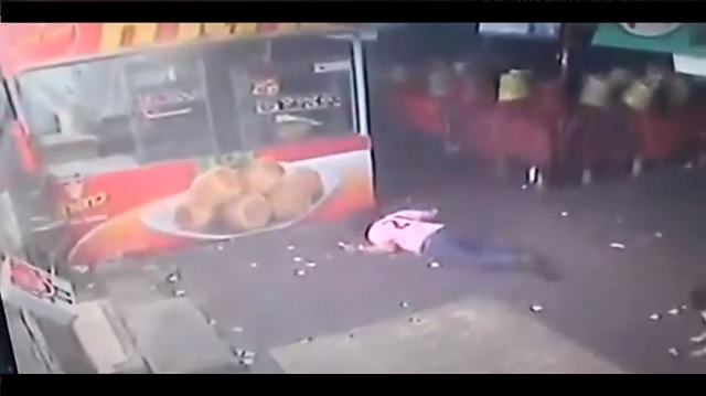 Man falls on face