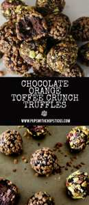 Chocolate Orange Toffee Crunch Truffles