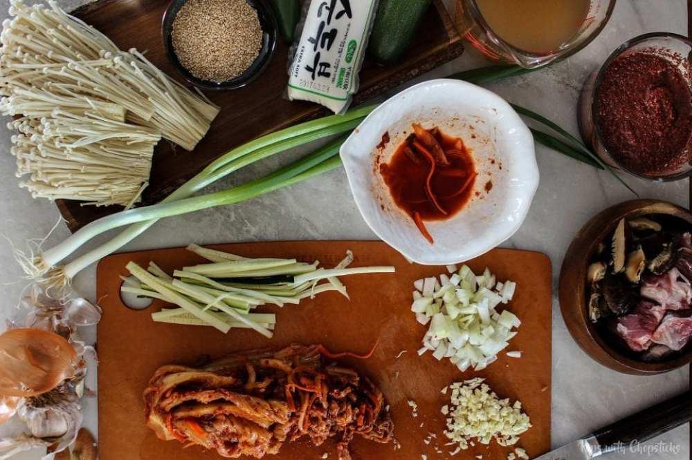 Spicy Tofu Kimchi Stew (Kimchi Jjigae)