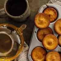 Mini Buttery Coconut Mochi Cakes