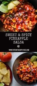Sweet & Spicy Pineapple Salsa