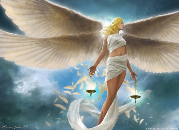 Full Sized Artwork Restoration Angel Magictcg