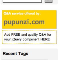 Add FREE and quality Q&A for your jQuery component HERE