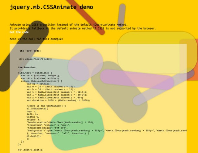 jQuery mb CSSAnimate – Use CSS3 transition to animate DOM