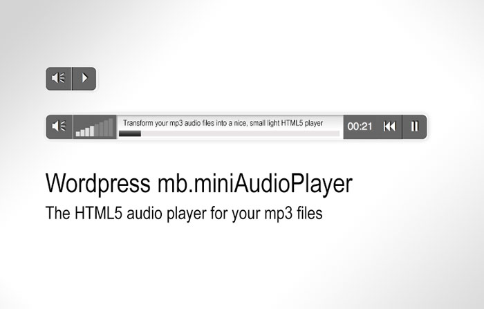 Wordpress mb miniAudioPlayer, a short tutorial | Pupunzi