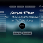 Use a Youtube video as page background on mobile devices