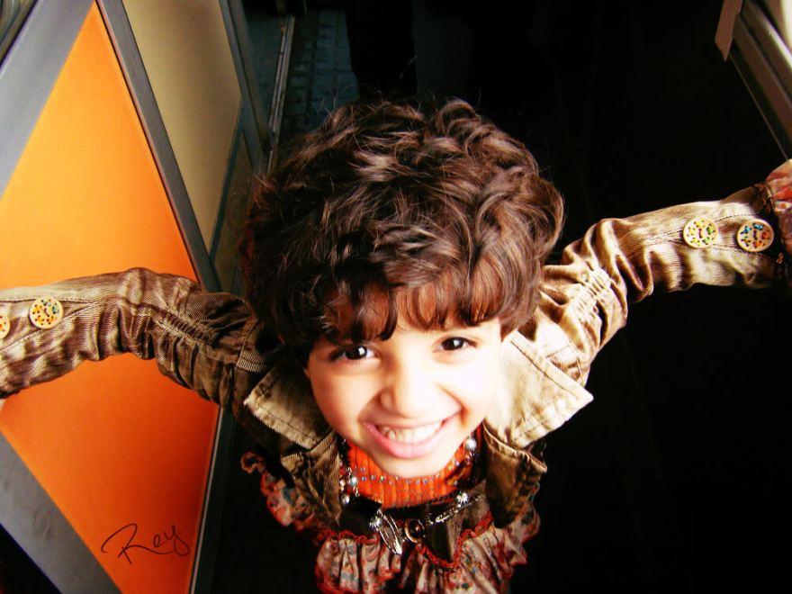 モロッコの列車内で出会った子供