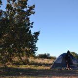 セドナでテント泊してる写真