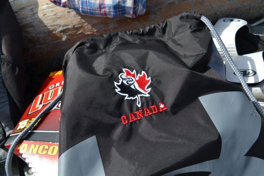 ラグビーカナダ代表ナップサックの写真