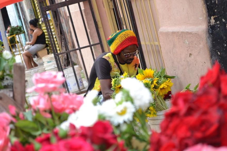 キューバ・ハバナのお花屋さんの写真