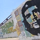 キューバ・ハバナの落書き(ゲバラ)の写真
