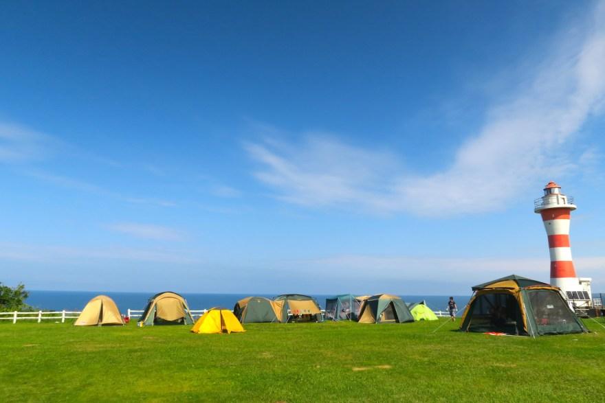 北海道初山別村みさき台公園キャンプ場 の写真