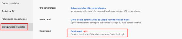 Ocultar Canal do Youtube
