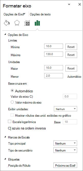 tela de ajuste de escala